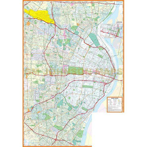 St Louis, Missouri Street Map - GM Johnson Maps