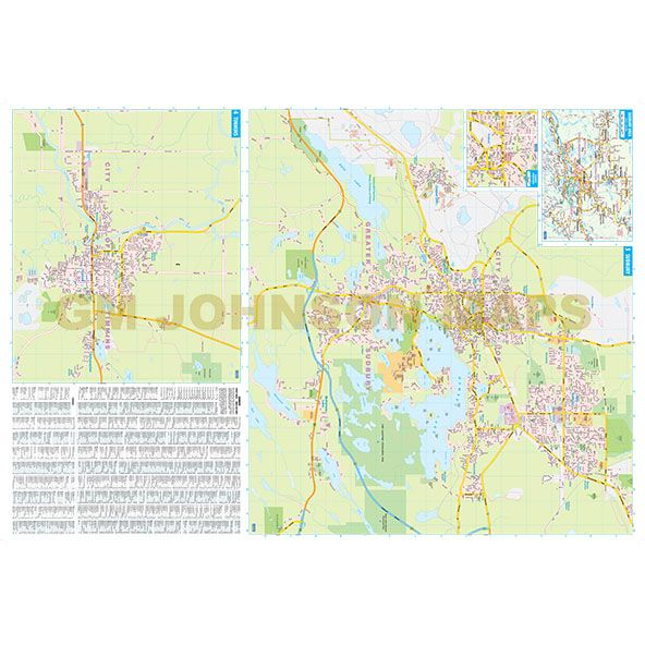 Sudbury North Bay Timmins Ontario Street Map GM Johnson Maps