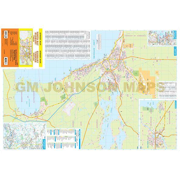 Sudbury North Bay Timmins Ontario Street Map GM Johnson Maps
