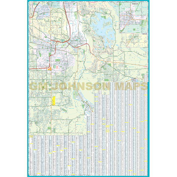 Tacoma Puyallup Lakewood Washington Street Map GM Johnson Maps
