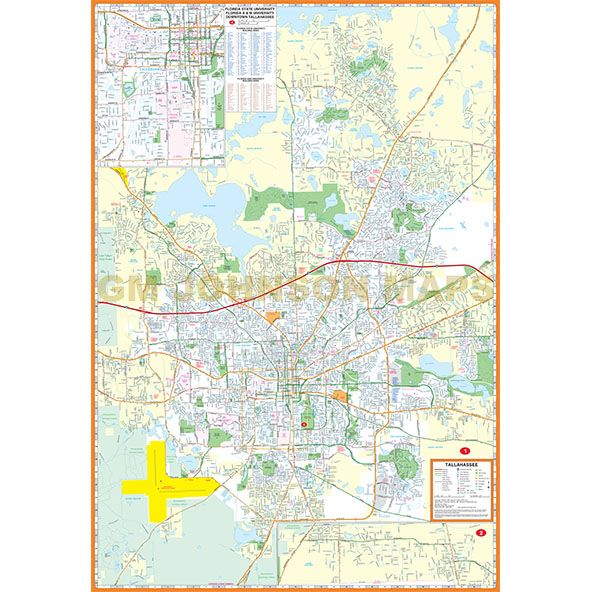 Tallahassee, Florida Street Map - GM Johnson Maps