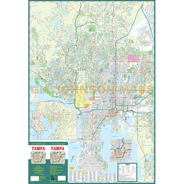Tampa Florida Street Map GM Johnson Maps