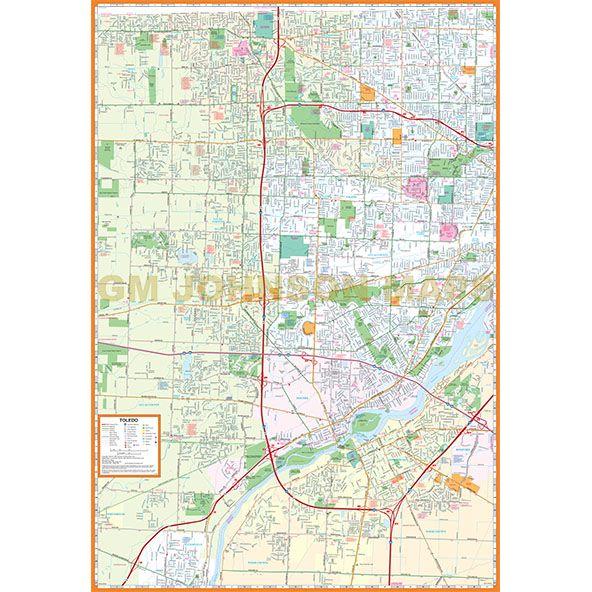 Toledo Bowling Green Ohio Street Map GM Johnson Maps