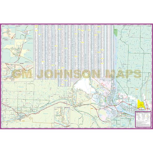 Tri Cities Kennewick Pasco Richland Washington Street Map Gm