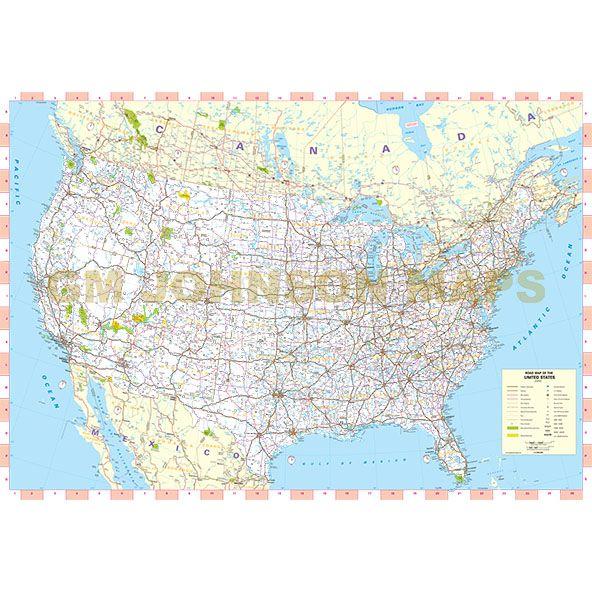 United States, United States Highway Map - GM Johnson Maps