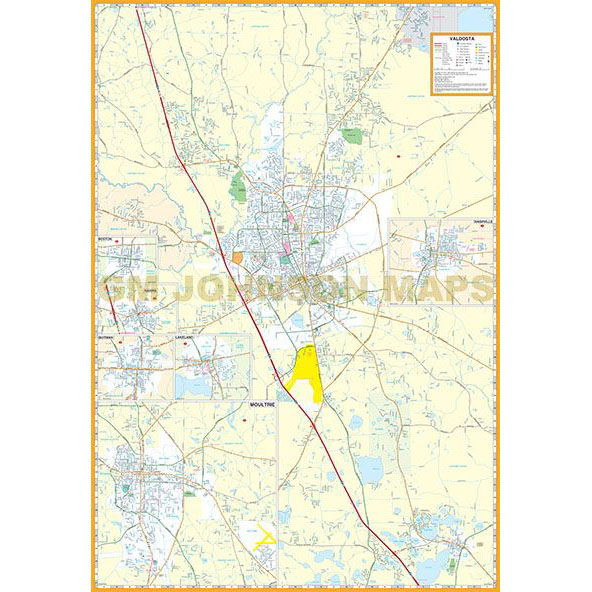 Valdosta thomasville moultrie south central georgia georgia click on image below to view zoom map sciox Image collections
