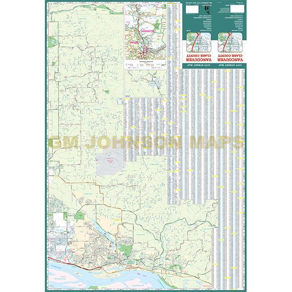 vancouver clark county washington street map gm johnson maps