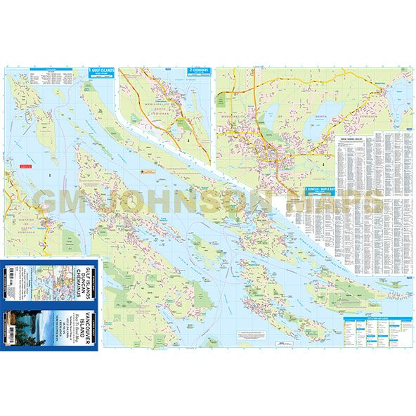 Vancouver Island Large Print Gulf Islands Duncan British