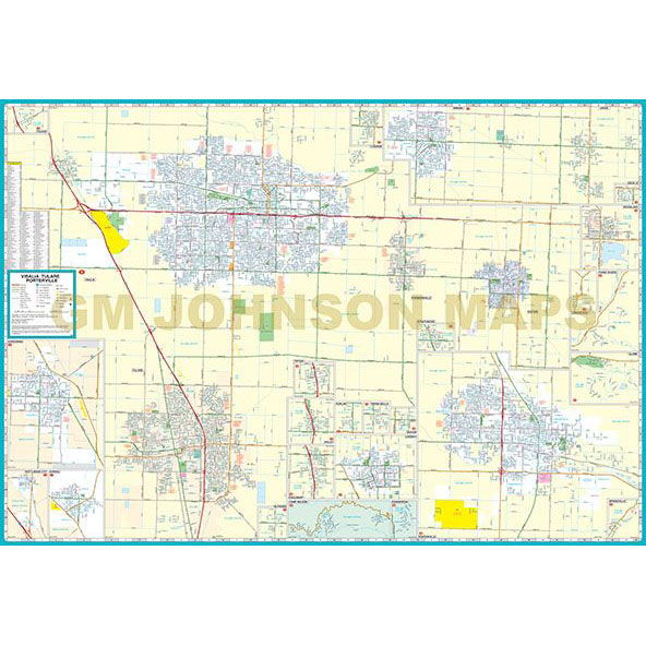 Map Of California Visalia.Visalia Hanford Tulare Kings Counties California Street Map
