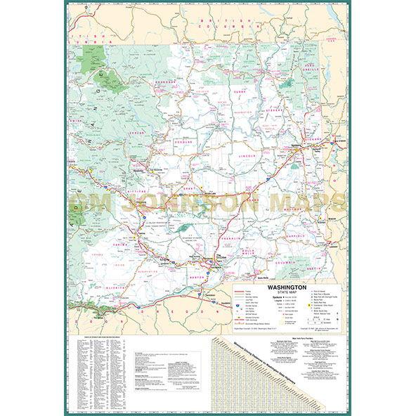 graphic regarding Printable Map of Washington State identify Washington High Print, Washington Country Map - GM Johnson Maps