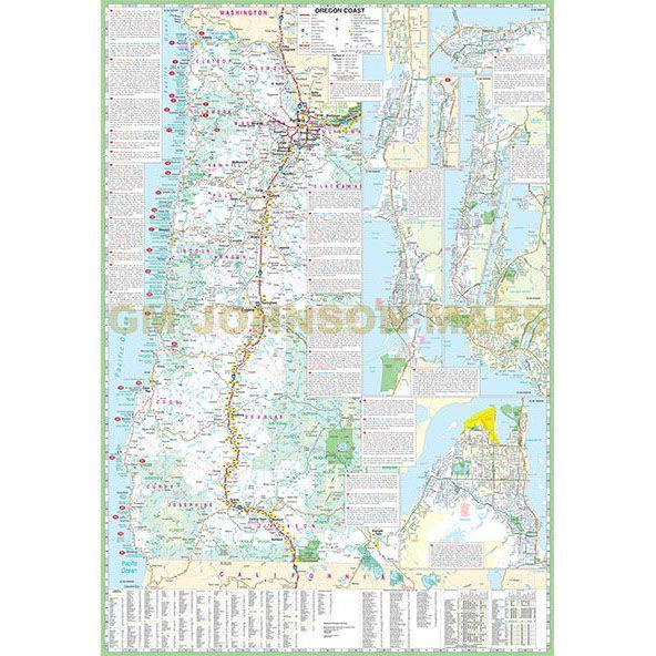 Washington Oregon Coast Large Print Washington State Map GM - Washington oregon map