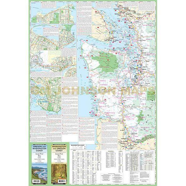 image regarding Printable Map of Washington State identified as Washington Oregon Coastline Significant Print, Washington Region Map
