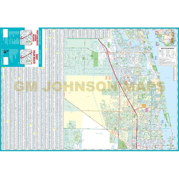 West Palm Beach North Palm Beach County Cities Florida Street - Map of northern florida cities