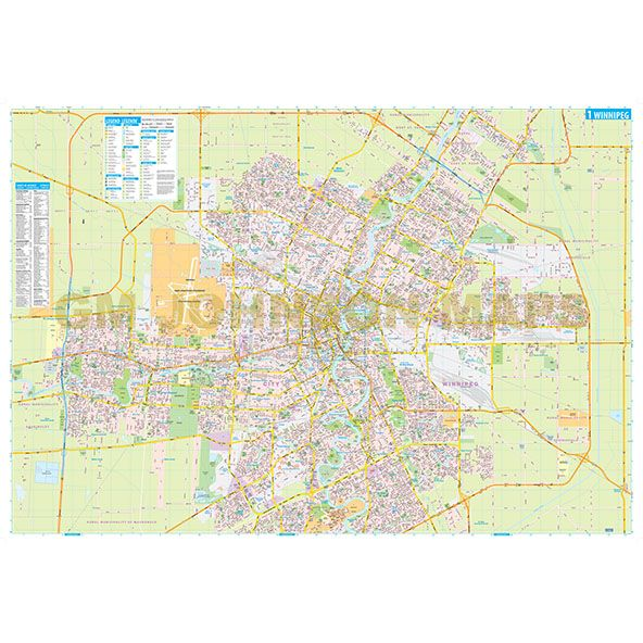 Winnipeg Manitoba Street Map GM Johnson Maps
