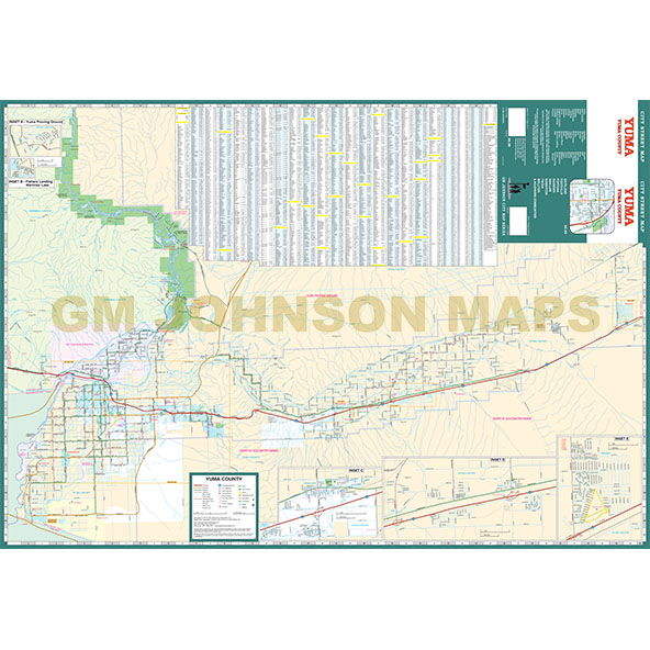 Street Map Of Yuma Arizona.Yuma Yuma County Arizona Street Map Gm Johnson Maps
